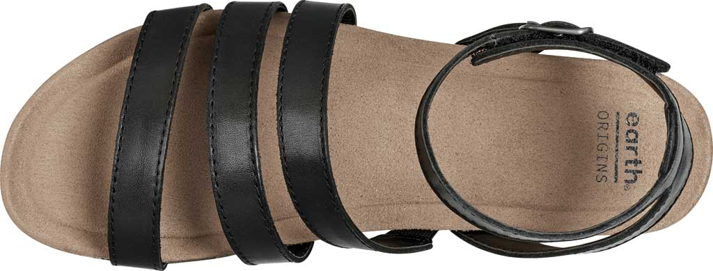 Women's Earth Origins Leesa Ankle Strap Sandal, Black Eco Calf Leather, large, image 4