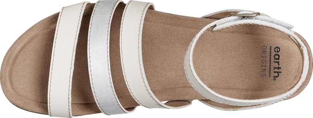 Women's Earth Origins Leesa Ankle Strap Sandal, Sand White Multi Eco Calf Leather, large, image 4