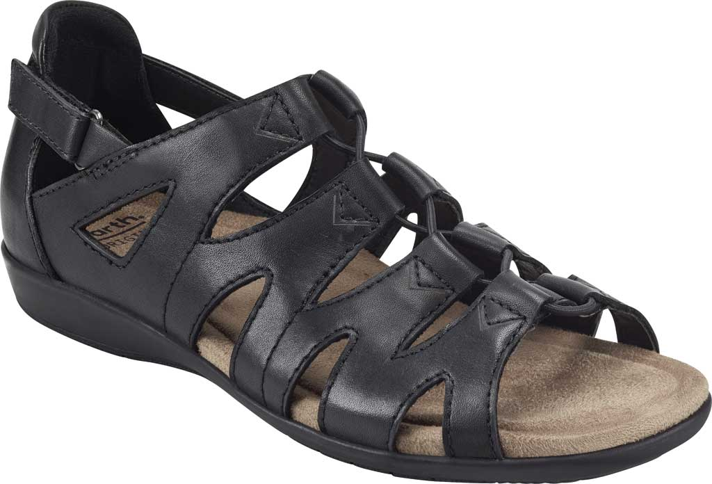 Women's Earth Origins Bea Cage Shoe, Black Eco Calf Leather, large, image 1