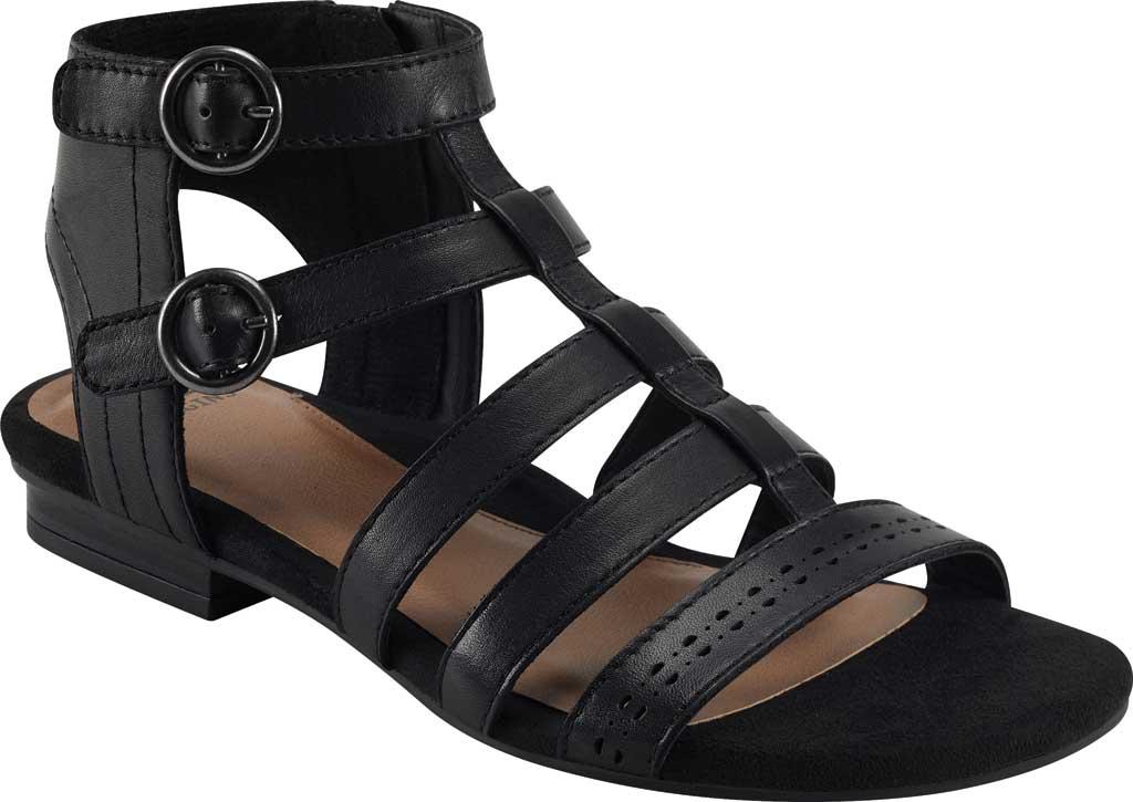 Women's Earth Origins Maren Gladiator Sandal, Black Eco Calf Leather, large, image 1
