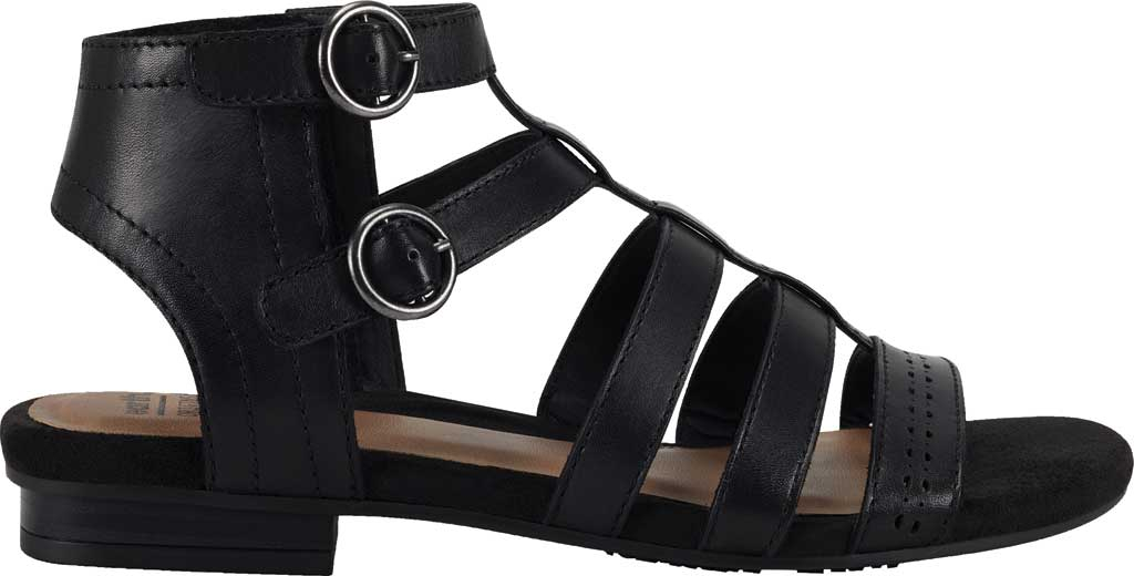 Women's Earth Origins Maren Gladiator Sandal, Black Eco Calf Leather, large, image 2