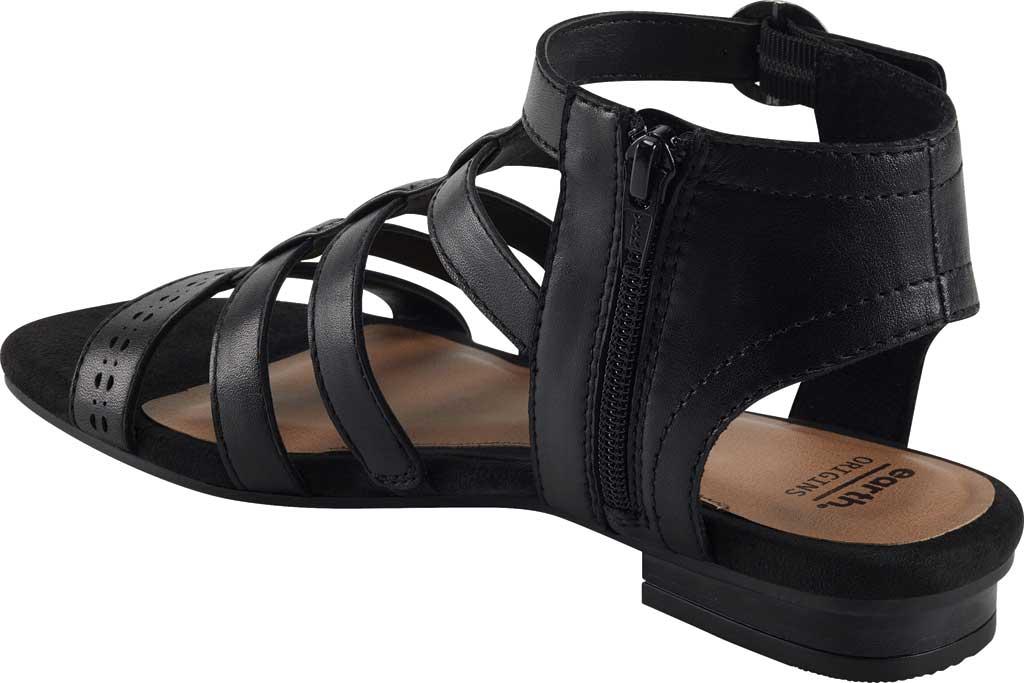 Women's Earth Origins Maren Gladiator Sandal, Black Eco Calf Leather, large, image 3