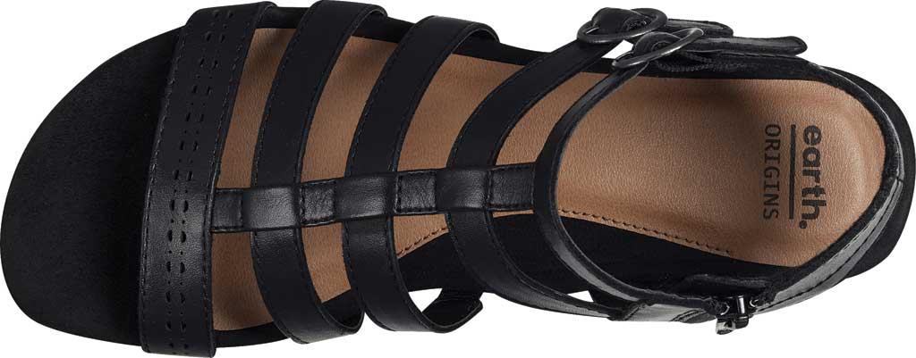 Women's Earth Origins Maren Gladiator Sandal, Black Eco Calf Leather, large, image 4