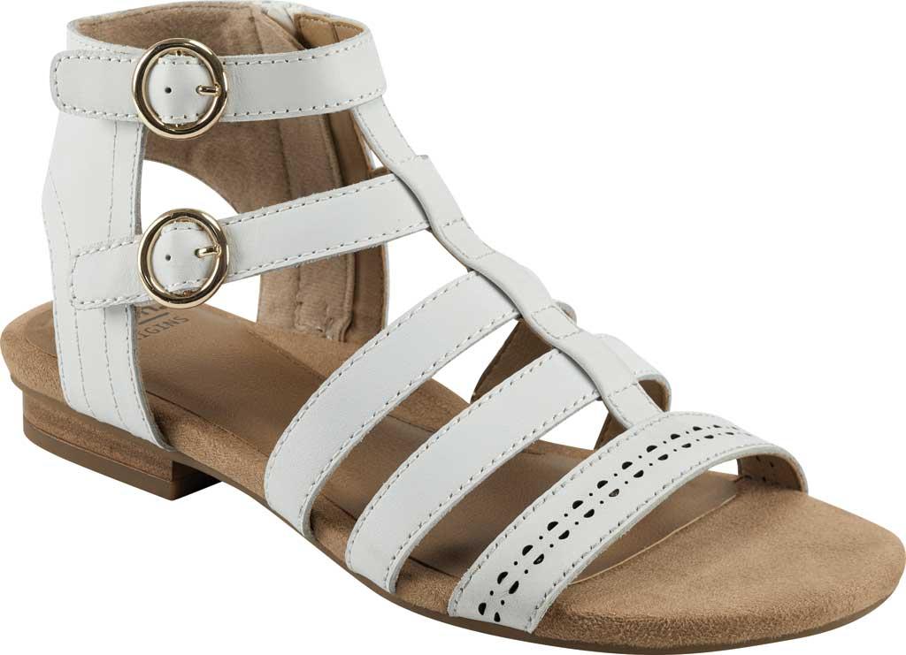 Women's Earth Origins Maren Gladiator Sandal, White Eco Calf Leather, large, image 1