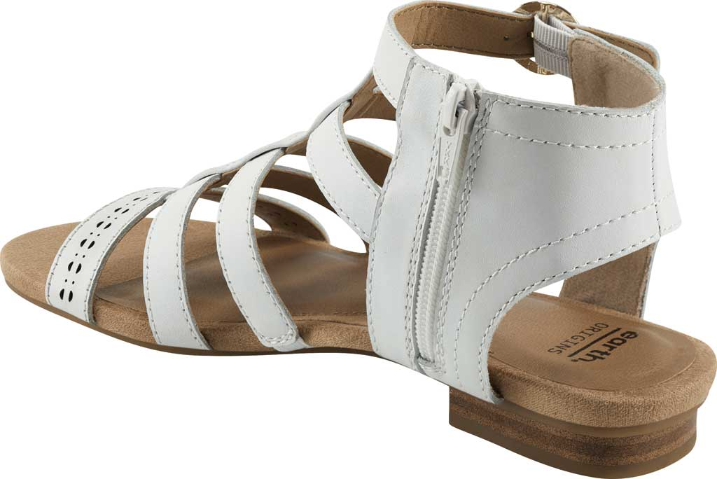 Women's Earth Origins Maren Gladiator Sandal, White Eco Calf Leather, large, image 3