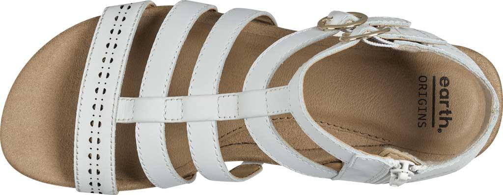 Women's Earth Origins Maren Gladiator Sandal, White Eco Calf Leather, large, image 4