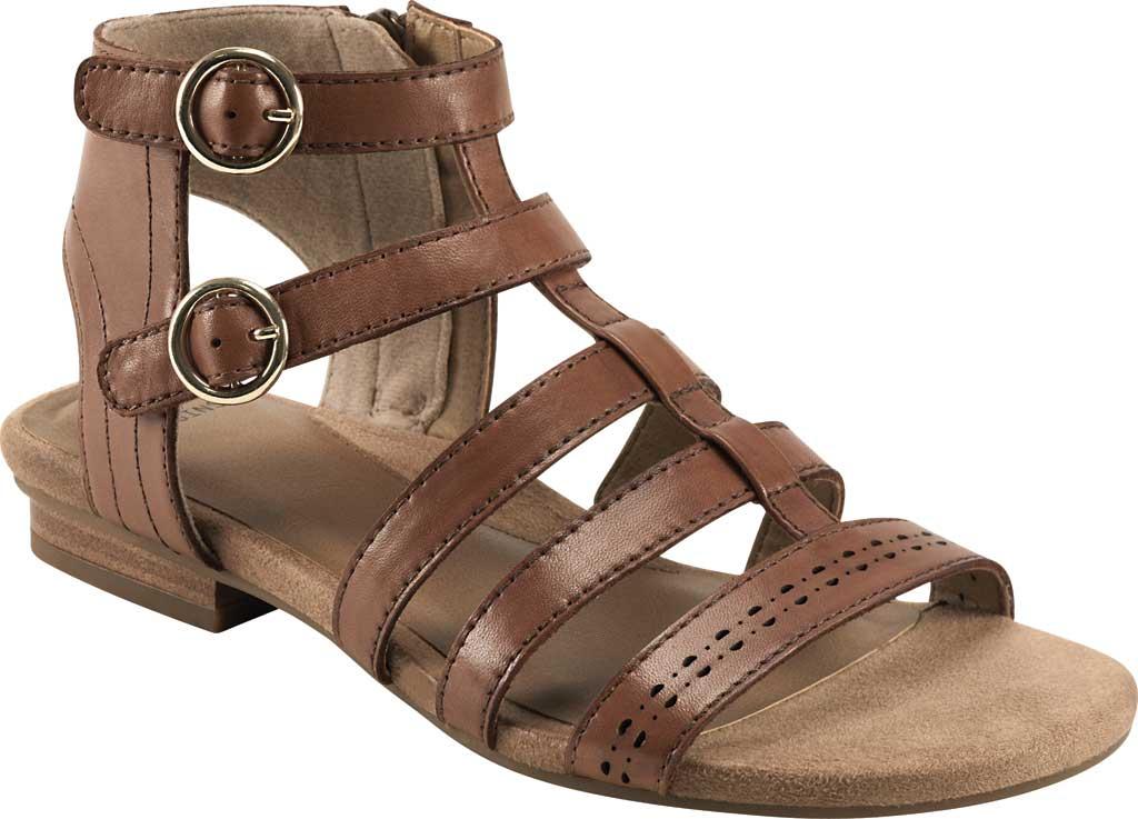 Women's Earth Origins Maren Gladiator Sandal, Saddle Eco Calf Leather, large, image 1