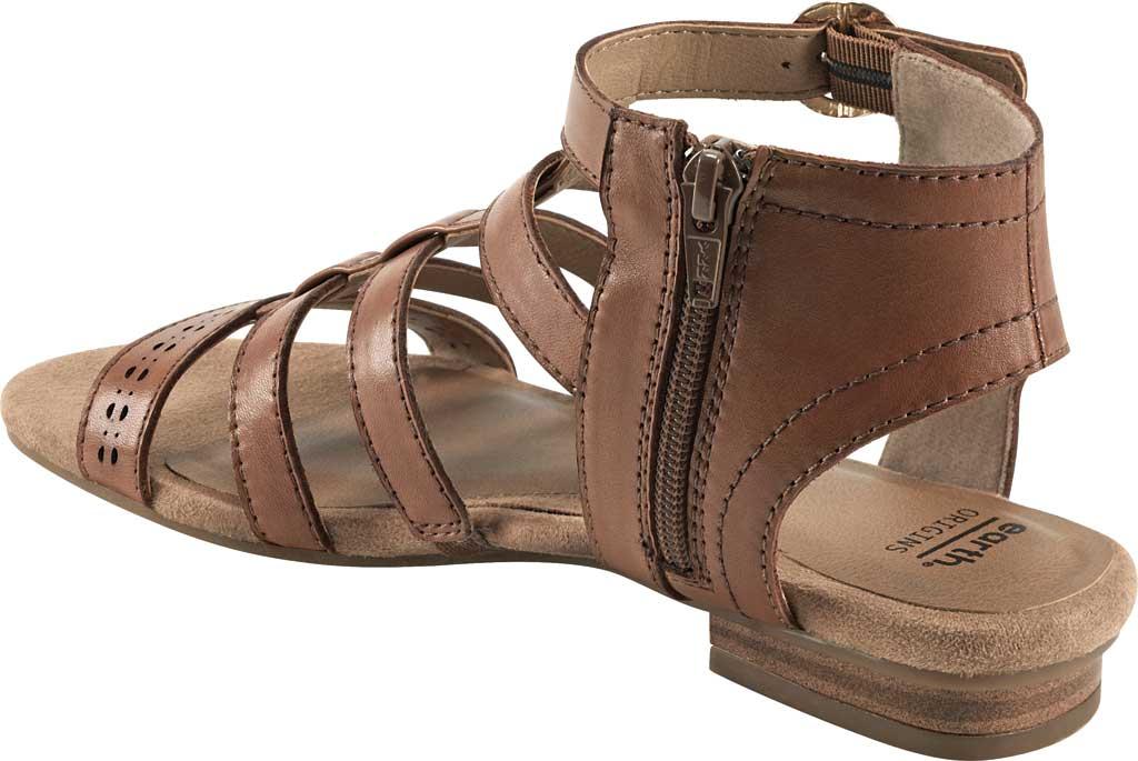 Women's Earth Origins Maren Gladiator Sandal, Saddle Eco Calf Leather, large, image 3