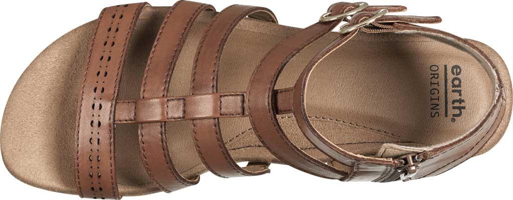 Women's Earth Origins Maren Gladiator Sandal, Saddle Eco Calf Leather, large, image 4