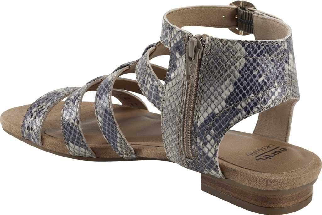 Women's Earth Origins Maren Gladiator Sandal, Taupe Multi Shiny Python Print, large, image 3