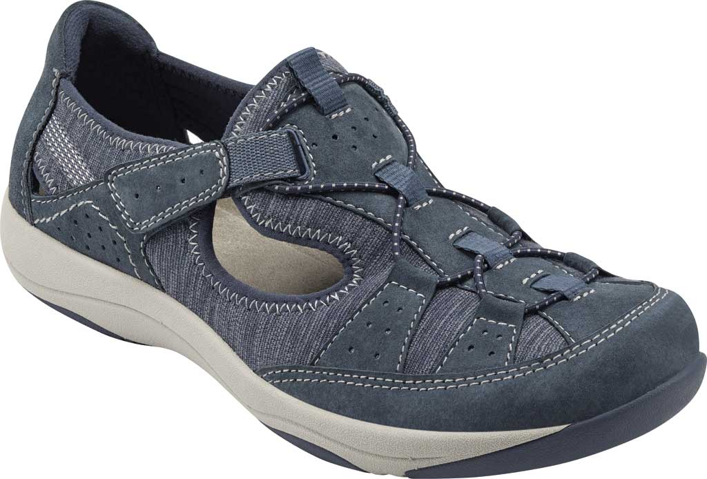 Women's Earth Origins Song Sneaker, Navy Blue Pig Suede, large, image 1