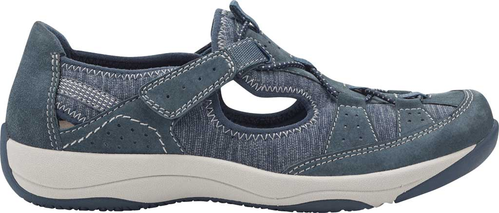 Women's Earth Origins Song Sneaker, Navy Blue Pig Suede, large, image 2