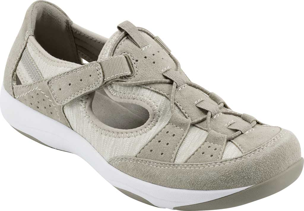Women's Earth Origins Song Sneaker, New Khaki Pig Suede, large, image 1