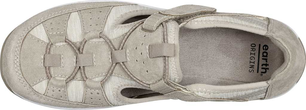 Women's Earth Origins Song Sneaker, New Khaki Pig Suede, large, image 4
