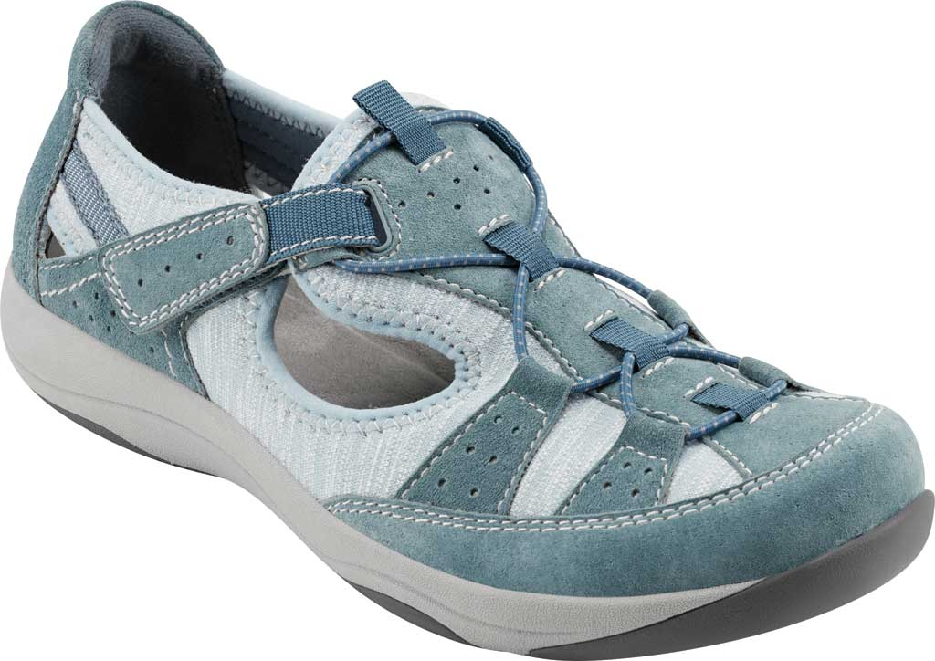Women's Earth Origins Song Sneaker, Moroccan Blue Pig Suede, large, image 1