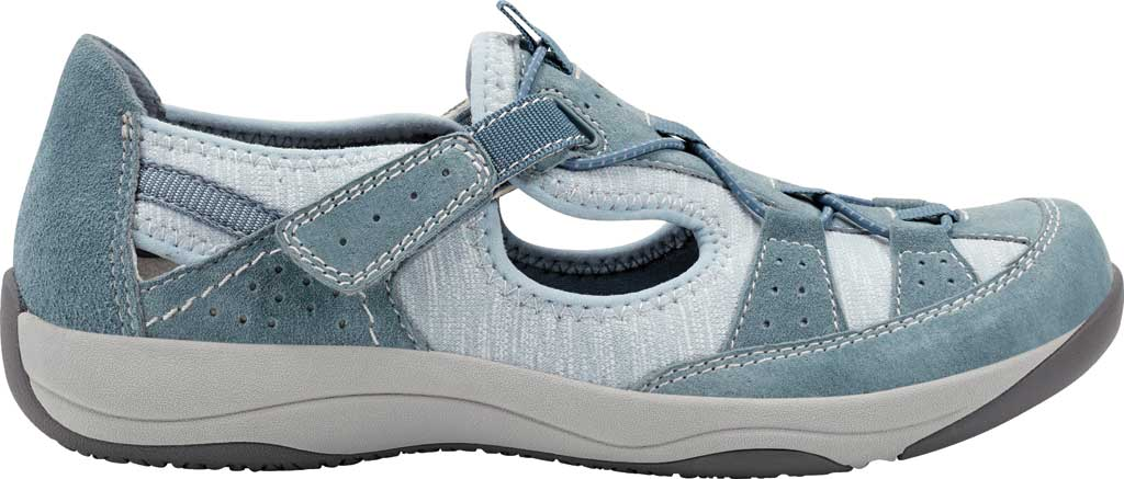 Women's Earth Origins Song Sneaker, Moroccan Blue Pig Suede, large, image 2