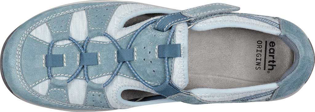 Women's Earth Origins Song Sneaker, Moroccan Blue Pig Suede, large, image 4
