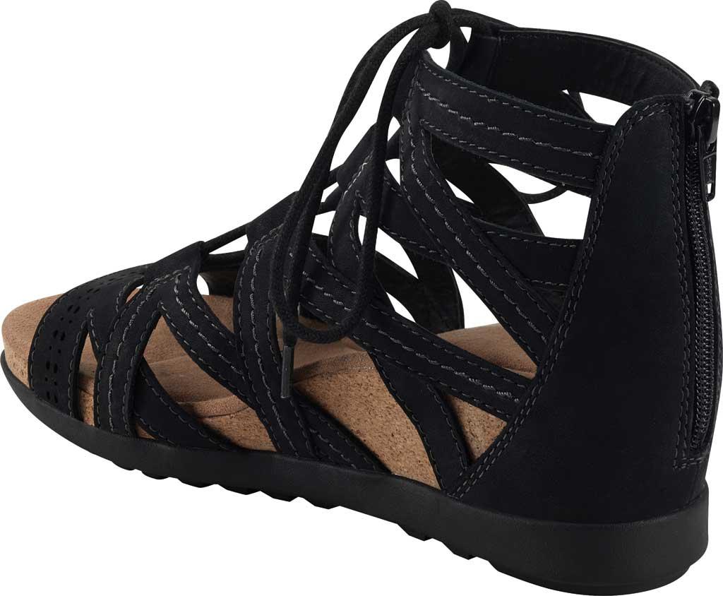Women's Earth Origins Corie Wedge Gladiator Sandal, Black Vintage Cookie II Nubuck, large, image 3