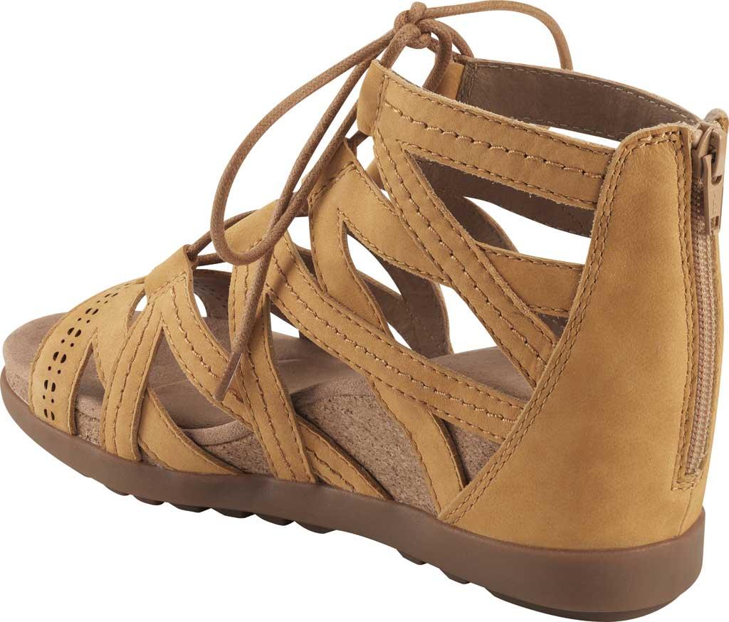 Women's Earth Origins Corie Wedge Gladiator Sandal, Amber Yellow Vintage Cookie II Nubuck, large, image 3