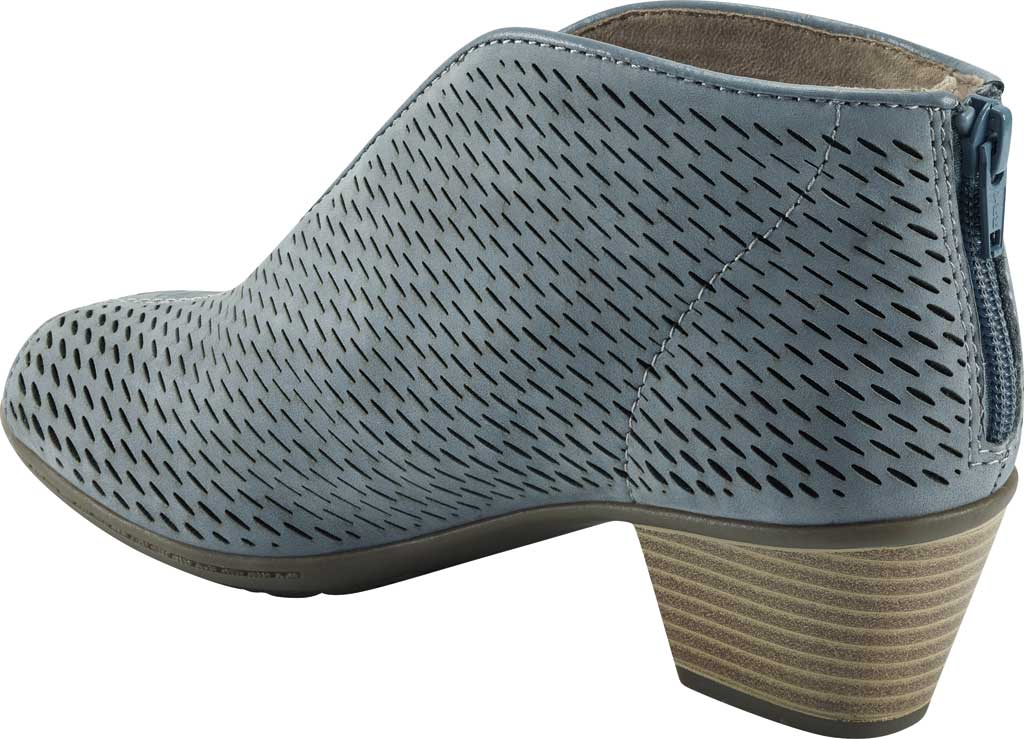 Women's Earth Origins Carmen Open Toe Bootie, Light Blue Ecobuck, large, image 3
