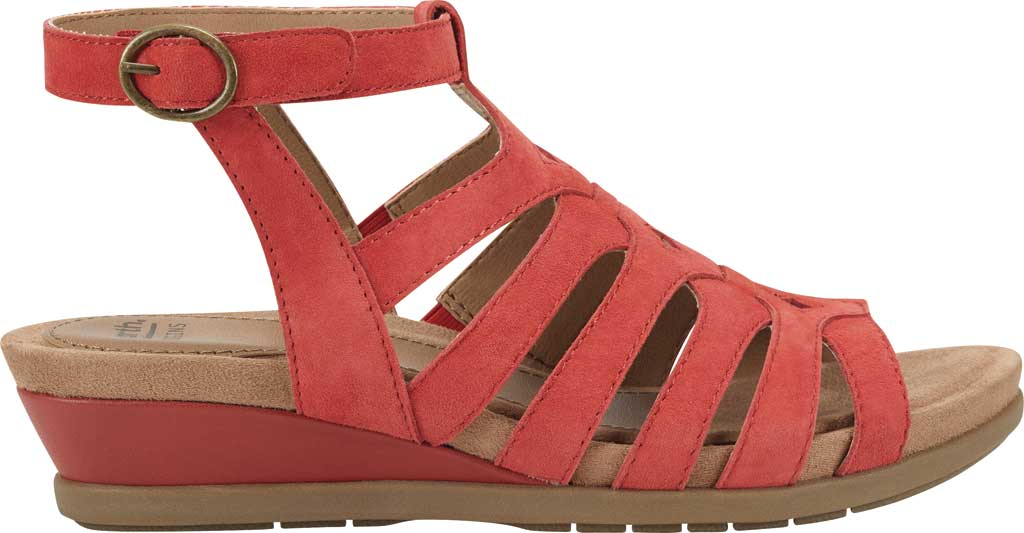 Women's Earth Origins Pippa Gladiator Sandal, Spicy Red Kid Suede, large, image 2