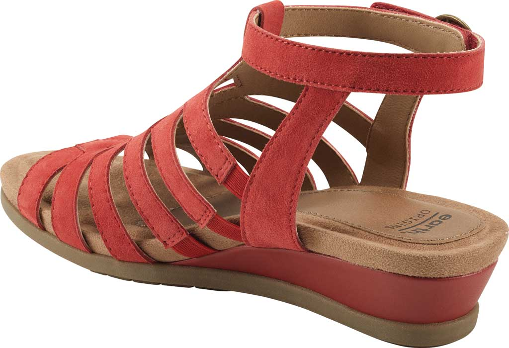 Women's Earth Origins Pippa Gladiator Sandal, Spicy Red Kid Suede, large, image 3