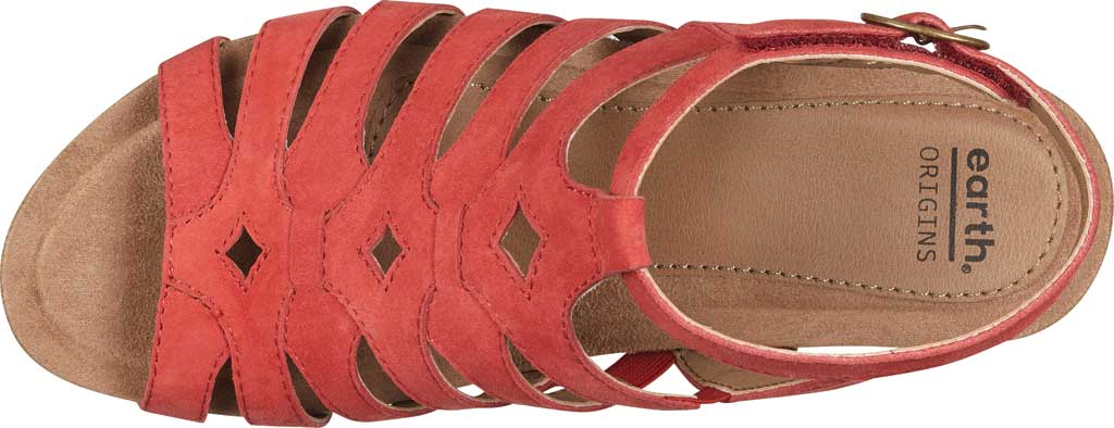 Women's Earth Origins Pippa Gladiator Sandal, Spicy Red Kid Suede, large, image 4