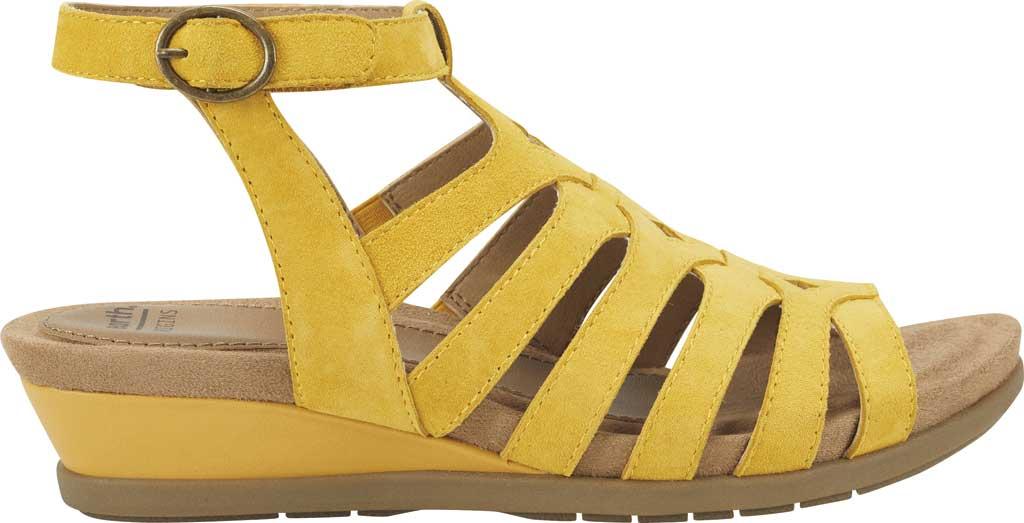 Women's Earth Origins Pippa Gladiator Sandal, Yolk Yellow Kid Suede, large, image 2