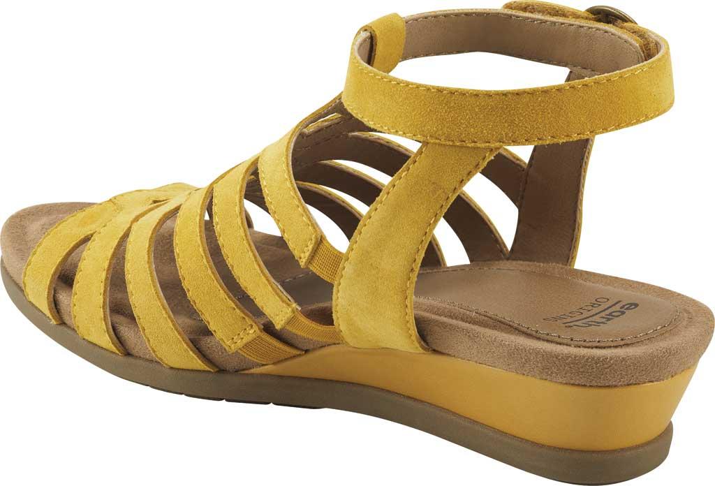 Women's Earth Origins Pippa Gladiator Sandal, Yolk Yellow Kid Suede, large, image 3