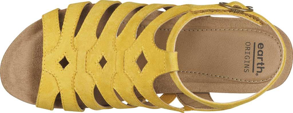 Women's Earth Origins Pippa Gladiator Sandal, Yolk Yellow Kid Suede, large, image 4