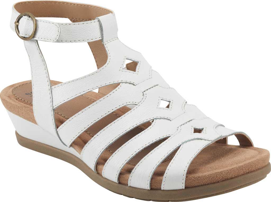 Women's Earth Origins Pippa Gladiator Sandal, White Pig Skin Leather, large, image 1