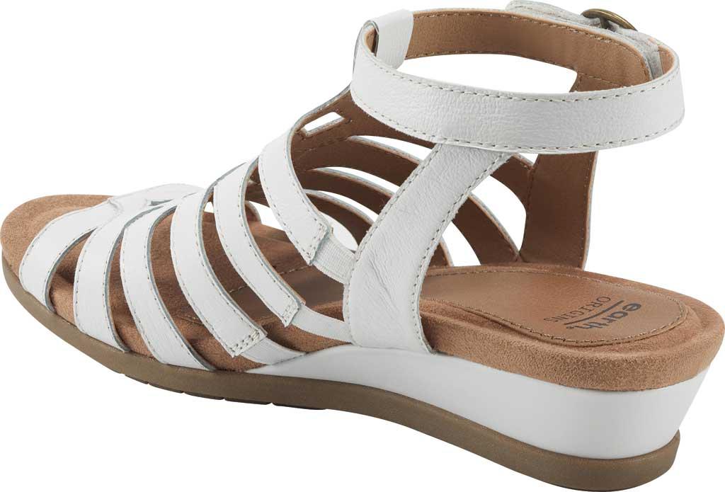 Women's Earth Origins Pippa Gladiator Sandal, White Pig Skin Leather, large, image 3
