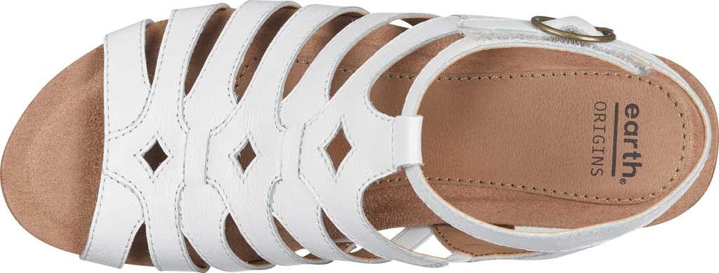 Women's Earth Origins Pippa Gladiator Sandal, White Pig Skin Leather, large, image 4