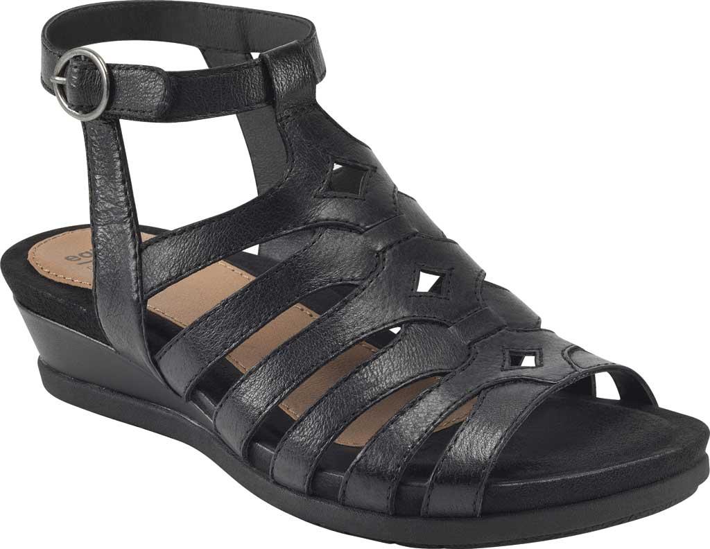 Women's Earth Origins Pippa Gladiator Sandal, Black Pig Skin Leather, large, image 1