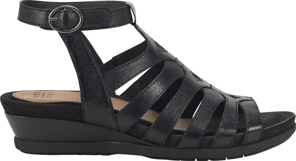 Women's Earth Origins Pippa Gladiator Sandal, Black Pig Skin Leather, large, image 2
