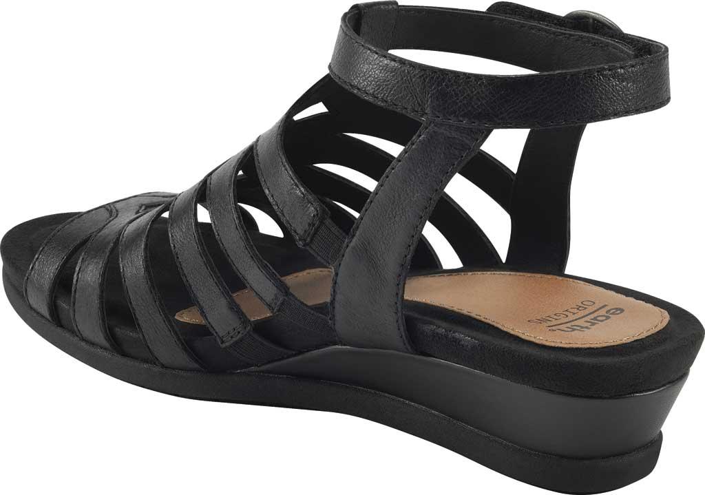 Women's Earth Origins Pippa Gladiator Sandal, Black Pig Skin Leather, large, image 3