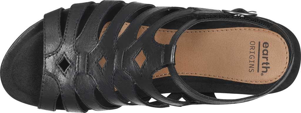 Women's Earth Origins Pippa Gladiator Sandal, Black Pig Skin Leather, large, image 4