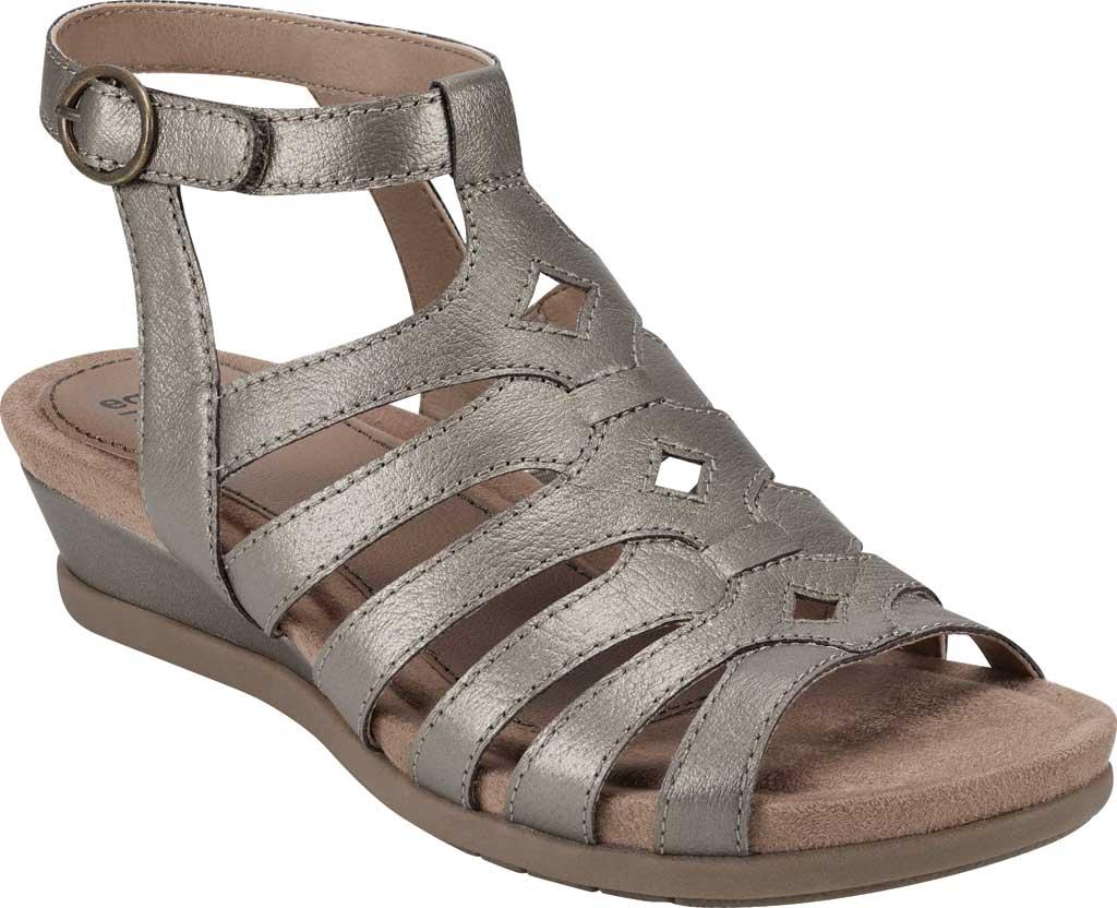 Women's Earth Origins Pippa Gladiator Sandal, Platinum Pearlized Pig Skin Leather, large, image 1