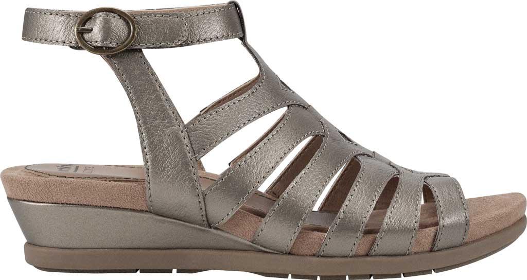 Women's Earth Origins Pippa Gladiator Sandal, Platinum Pearlized Pig Skin Leather, large, image 2