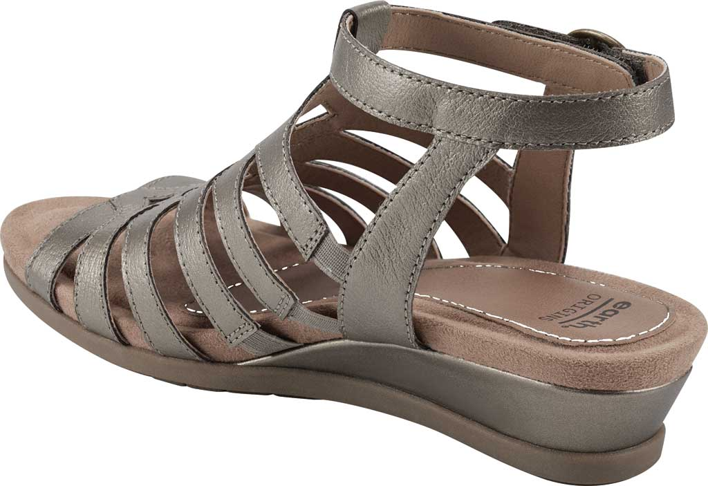 Women's Earth Origins Pippa Gladiator Sandal, Platinum Pearlized Pig Skin Leather, large, image 3
