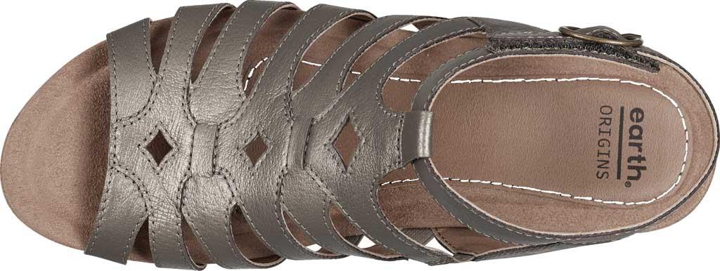Women's Earth Origins Pippa Gladiator Sandal, Platinum Pearlized Pig Skin Leather, large, image 4