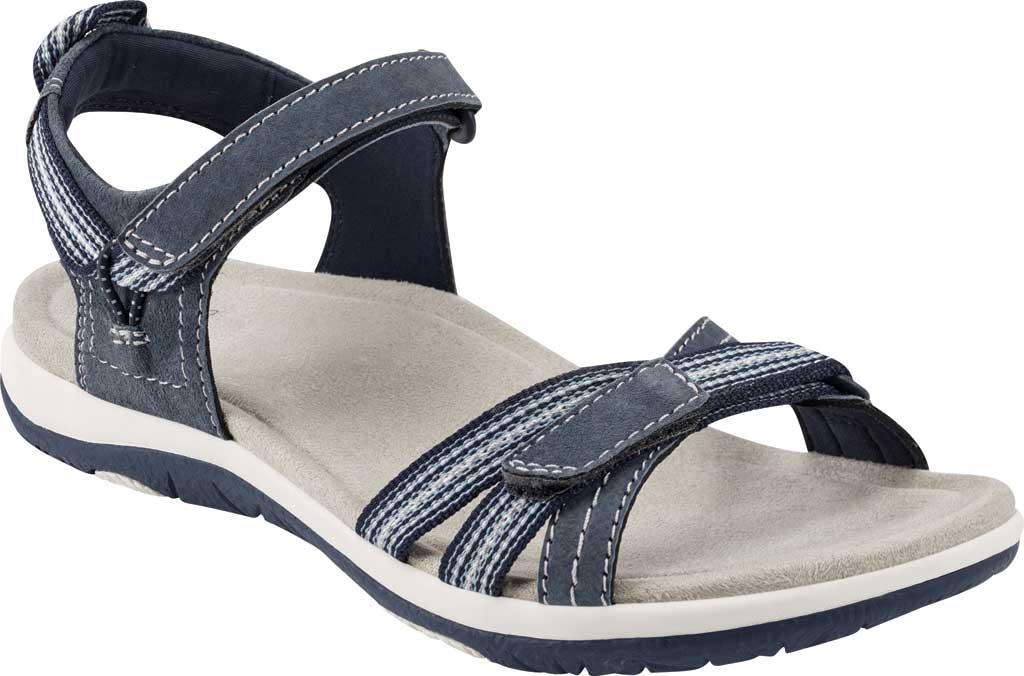 Women's Earth Origins Sarena Active Sandal, Navy Blue Pig Suede, large, image 1