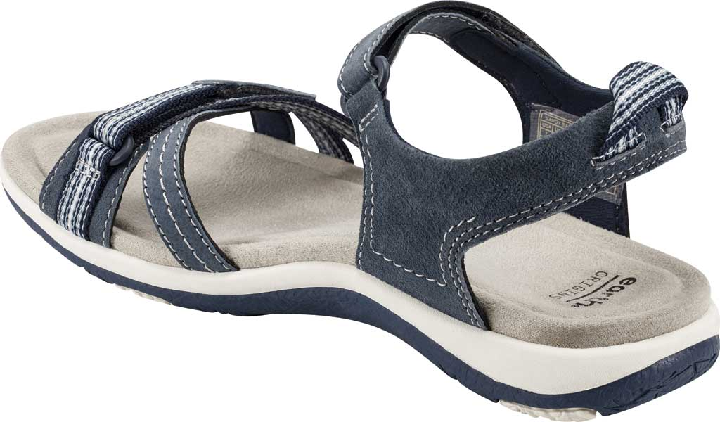 Women's Earth Origins Sarena Active Sandal, Navy Blue Pig Suede, large, image 3