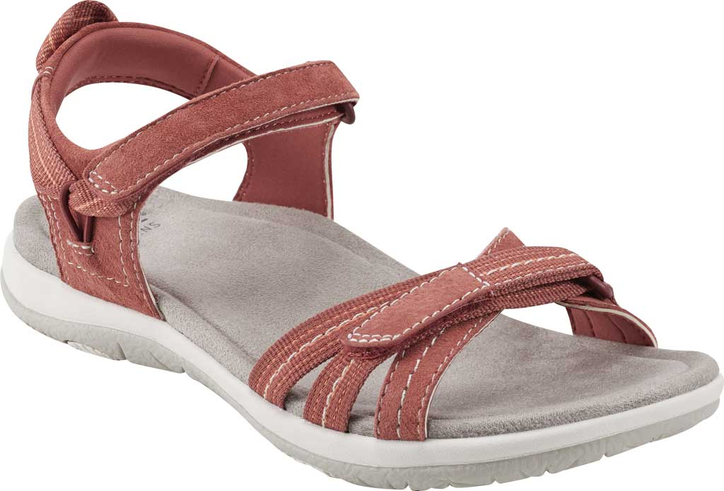 Women's Earth Origins Sarena Active Sandal, Salmon Pig Suede, large, image 1