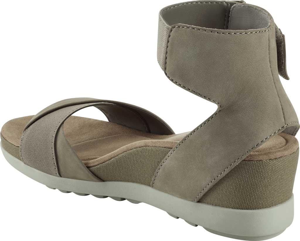 Women's Earth Origins Carolina Ankle Strap Wedge Sandal, New Khaki Ecobuck, large, image 3