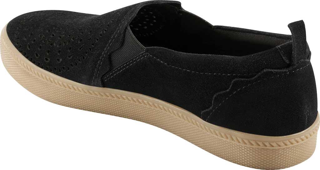 Women's Earth Origins Zelle Slip On Sneaker, Black Cow Suede Eco 2, large, image 3