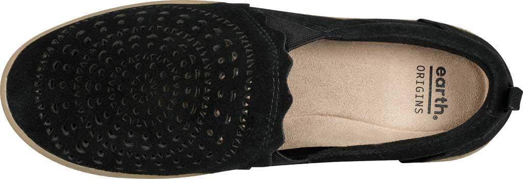 Women's Earth Origins Zelle Slip On Sneaker, Black Cow Suede Eco 2, large, image 4