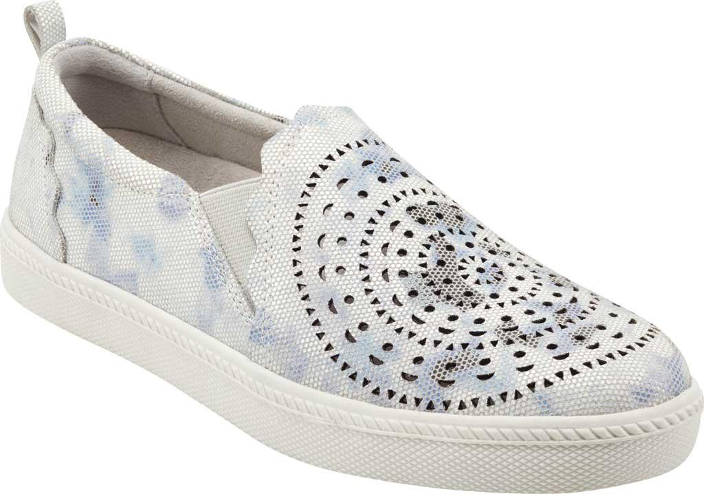 Women's Earth Origins Zelle Slip On Sneaker, White Multi Nivalis Eco Print Leather, large, image 1