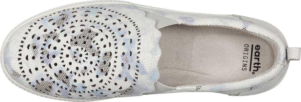 Women's Earth Origins Zelle Slip On Sneaker, White Multi Nivalis Eco Print Leather, large, image 4