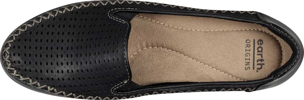 Women's Earth Origins Lizzy Perforated Smoking Flat, , large, image 4